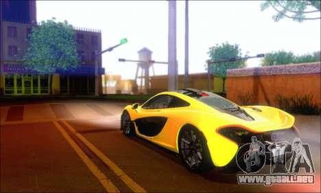 McLaren P1 EPM para GTA San Andreas vista hacia atrás