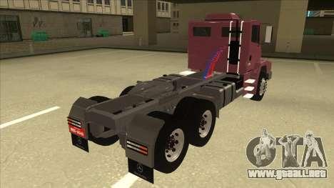 Mrecedes-Benz LS 2638 Canaviero para GTA San Andreas vista posterior izquierda