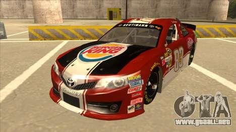 Toyota Camry NASCAR No. 83 Burger King Dr Pepper para GTA San Andreas