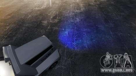 Faros azules para GTA 4 tercera pantalla