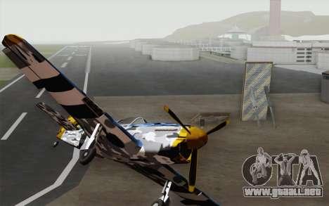 Idealmente en el camuflaje de invierno para la visión correcta GTA San Andreas