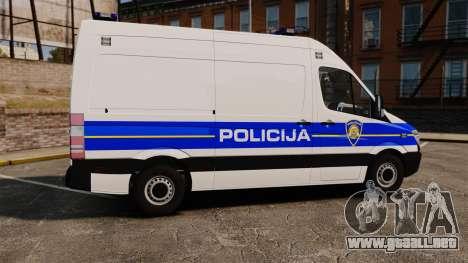 Mercedes-Benz Sprinter Croatian Police v2 [ELS] para GTA 4 left