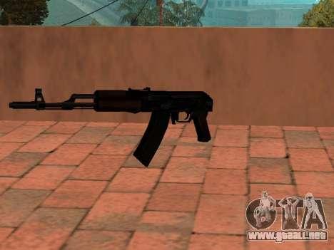 Culata de AK-74 para GTA San Andreas segunda pantalla