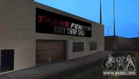 Wang Cars para GTA San Andreas sucesivamente de pantalla