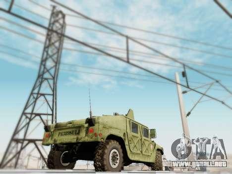 Humvee Serbian Army para GTA San Andreas left