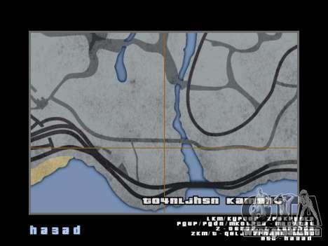 Mapa al estilo de GTA 5 para GTA San Andreas undécima de pantalla