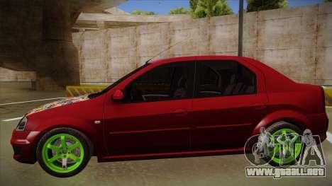 Dacia Logan Hellaflush para GTA San Andreas vista posterior izquierda