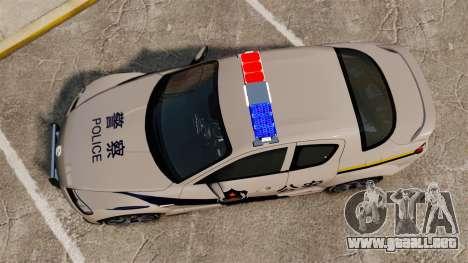 Mazda RX-8 R3 2011 Police para GTA 4 visión correcta