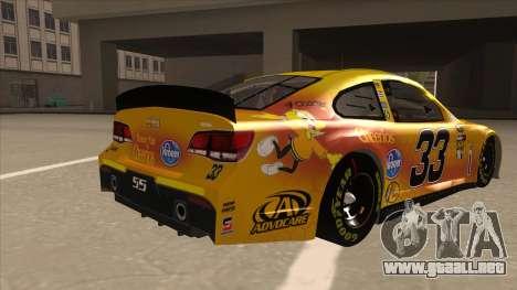Chevrolet SS NASCAR No. 33 Cheerios para la visión correcta GTA San Andreas