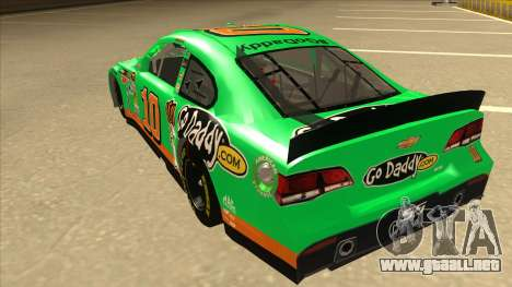 Chevrolet SS NASCAR No. 10 Go Daddy para GTA San Andreas vista hacia atrás