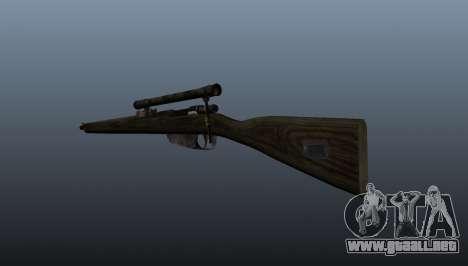 Rifle de francotirador Carcano para GTA 4 segundos de pantalla