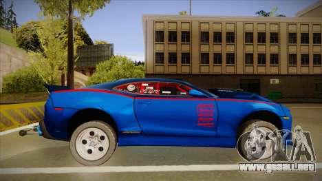 Chevrolet Camaro ZL1 Elite para GTA San Andreas vista posterior izquierda