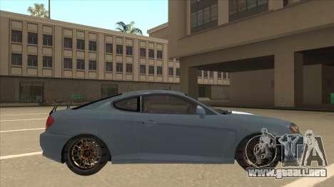 Hyundai Coupe V6 Soft Tuned v1 para GTA San Andreas vista posterior izquierda