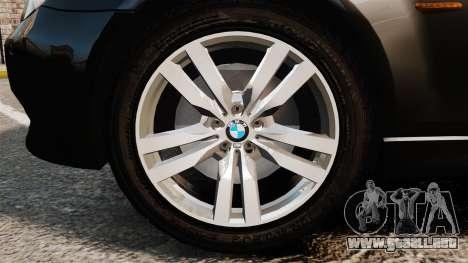 BMW M5 E60 Metropolitan Police Unmarked [ELS] para GTA 4 vista hacia atrás