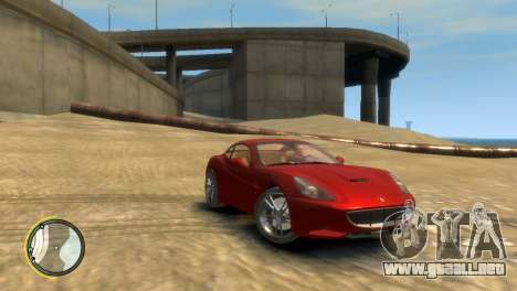 Ferrari California [EPM] para GTA 4 Vista posterior izquierda