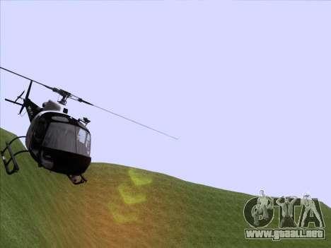 Police Maverick GTA 5 para GTA San Andreas vista posterior izquierda