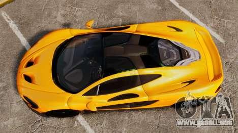 McLaren P1 2013 para GTA 4 visión correcta