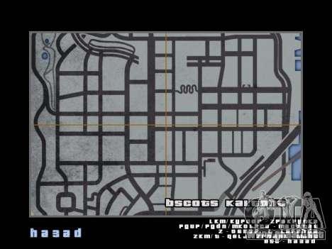 Mapa al estilo de GTA 5 para GTA San Andreas octavo de pantalla