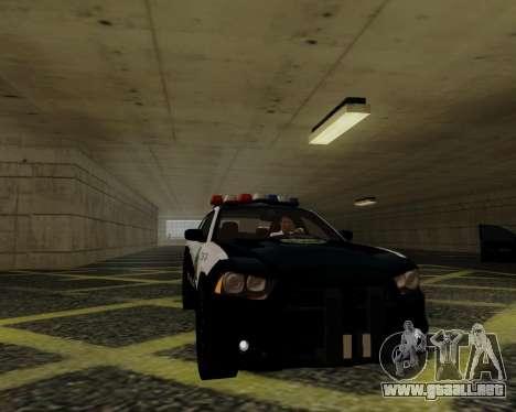 Dodge Charger 2012 Police IVF para GTA San Andreas vista hacia atrás