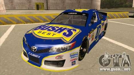 Toyota Camry NASCAR No. 47 Bushs Beans para GTA San Andreas