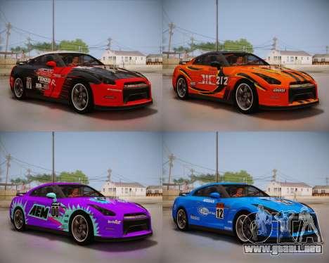 Nissan GT-R Egoist v2 para GTA San Andreas vista hacia atrás