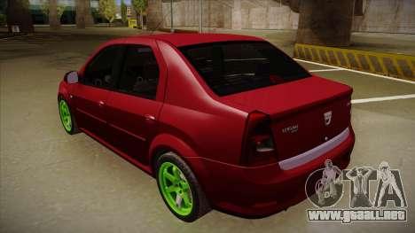 Dacia Logan Hellaflush para la visión correcta GTA San Andreas