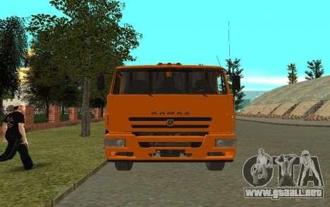 KAMAZ 6520 para la visión correcta GTA San Andreas