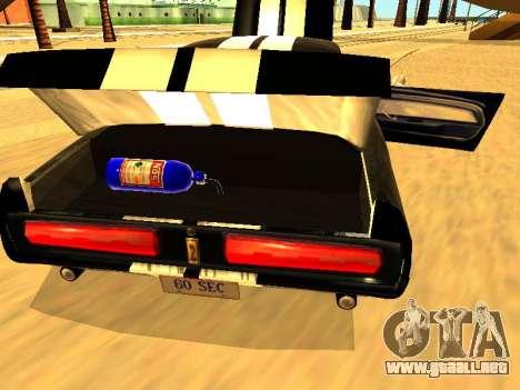Ford Shelby GT-500E Eleanor para visión interna GTA San Andreas