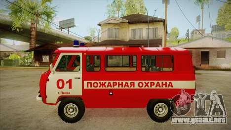 Sede UAZ 452 fuego para GTA San Andreas left