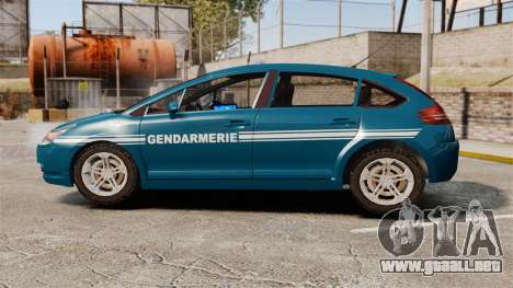 Citroen C4 Gendarmerie [ELS] para GTA 4 left