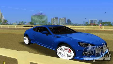 Subaru BRZ Type 5 para GTA Vice City vista lateral izquierdo
