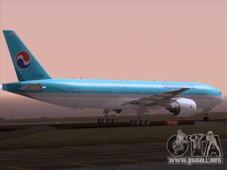 Boeing 777-2B5ER Korean Air para la vista superior GTA San Andreas