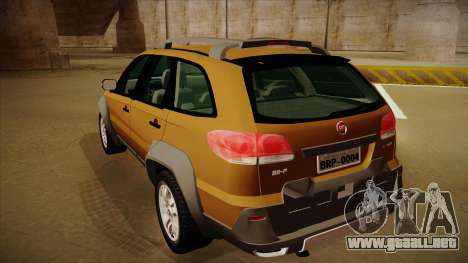 FIAT Palio Weekend Adventure Locker 2010 para la visión correcta GTA San Andreas