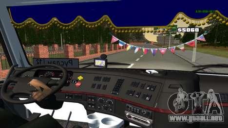 Volvo VNL 670 para GTA San Andreas vista hacia atrás