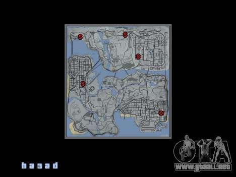 Mapa al estilo de GTA 5 para GTA San Andreas segunda pantalla