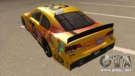 Chevrolet SS NASCAR No. 33 Cheerios para GTA San Andreas vista hacia atrás
