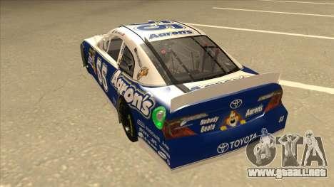 Toyota Camry NASCAR No. 55 Aarons DM blue-white para GTA San Andreas vista hacia atrás