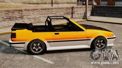 Versión convertible del Futo para GTA 4 left