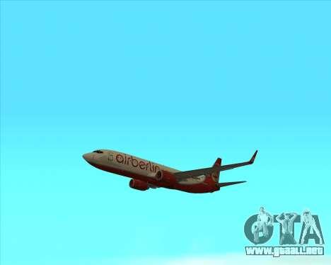 Boeing 737-800 para la visión correcta GTA San Andreas