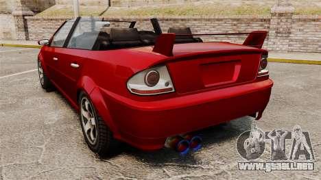 Versión convertible del primer ministro tuning para GTA 4 Vista posterior izquierda