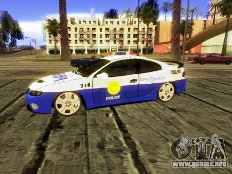 Pontiac GTO Pursit Edition para GTA San Andreas vista posterior izquierda