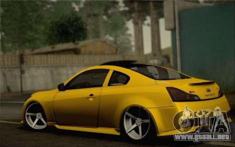 Infiniti G37 IPL para las ruedas de GTA San Andreas