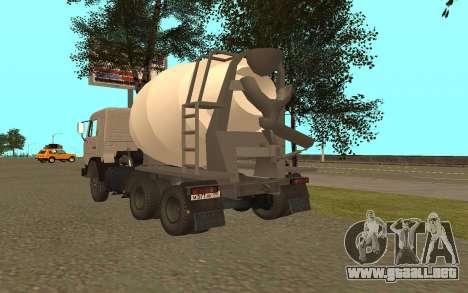 Camiones KAMAZ 53115 para GTA San Andreas vista posterior izquierda