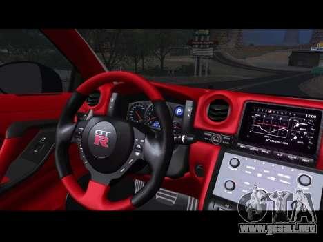 Nissan GT-R Egoist v2 para la visión correcta GTA San Andreas