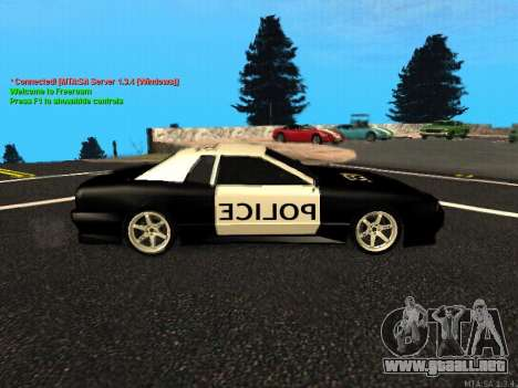 Elegy Police para GTA San Andreas vista posterior izquierda