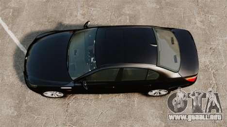 BMW M5 E60 Metropolitan Police Unmarked [ELS] para GTA 4 visión correcta