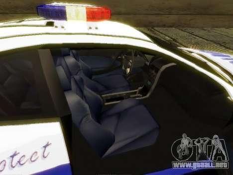Pontiac GTO Pursit Edition para GTA San Andreas vista hacia atrás