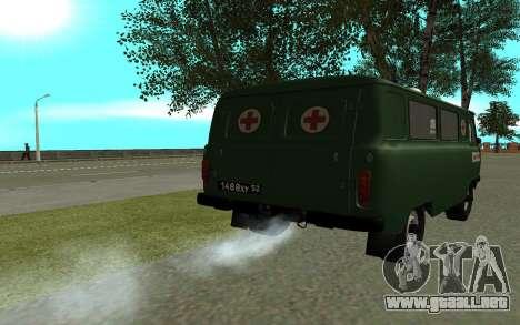 Ambulancia UAZ 452 para GTA San Andreas vista posterior izquierda