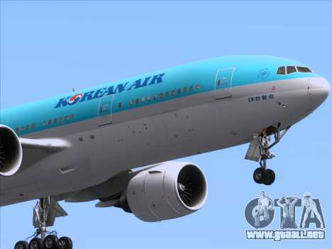 Boeing 777-2B5ER Korean Air para el motor de GTA San Andreas