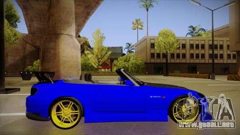 Honda S2000 C-West para GTA San Andreas vista posterior izquierda